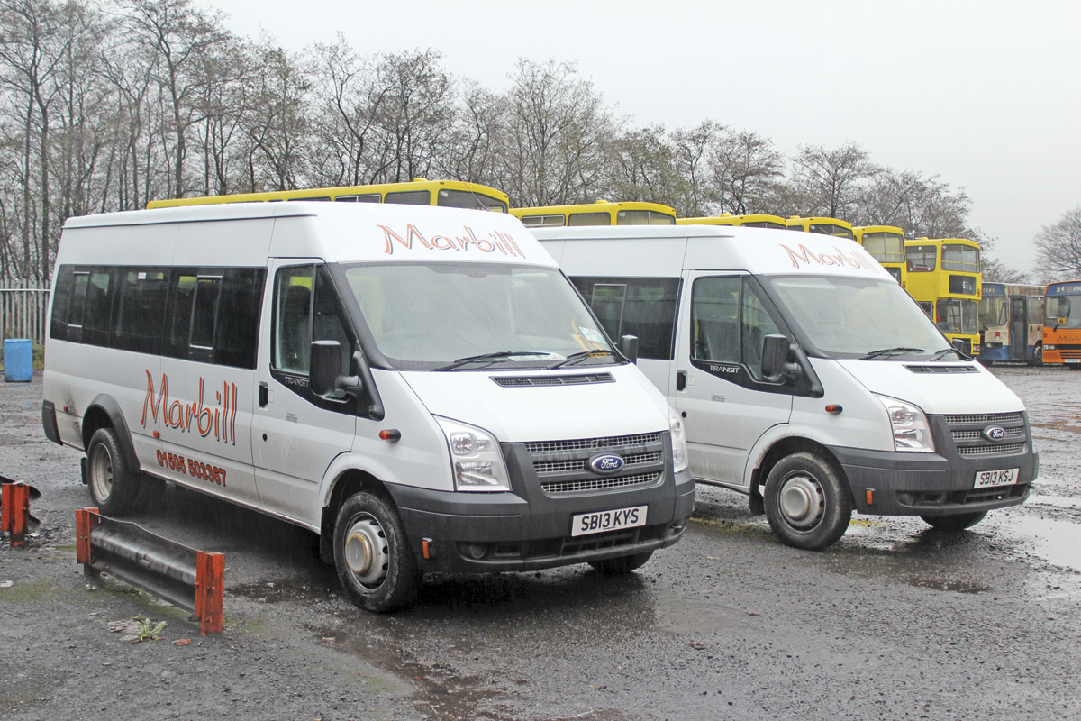 A fleet of self drive hire Ford Transit minibuses is part of the portfolio