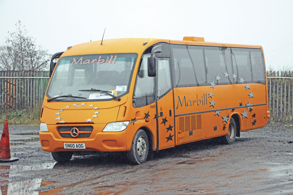 Bought new in 2010 was this 29-seat Sitcar Beluga bodied Mercedes-Benz Vario