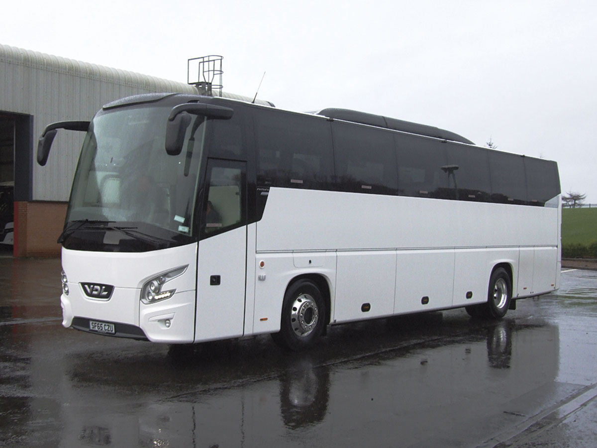 Delivered during Christmas week were two new 53 seaters with toilets for a new contract. One is a VDL Futura FHD2