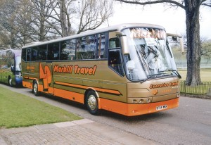 One of Marbill's newly delivered Futura Classics participating in the UK Coach Rally when it was held at Brighton