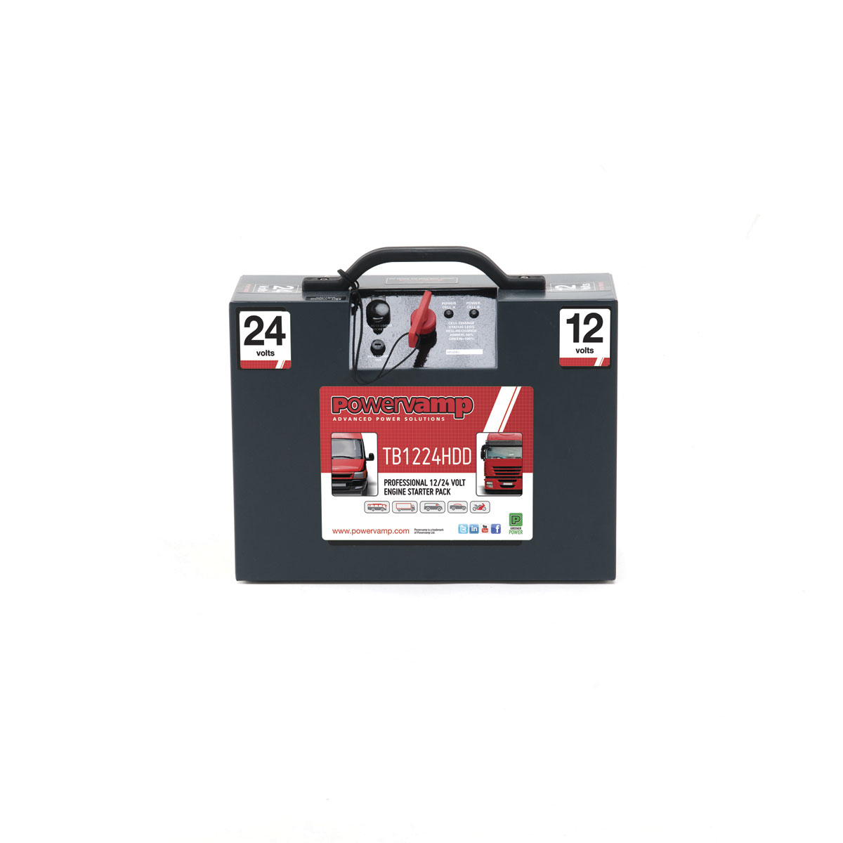 Powervamp's TB1224HDD battery starter.