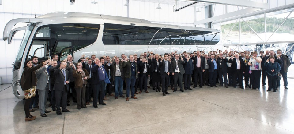 The assembled party toasts the success of the new i8 integral