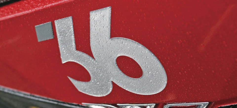The distinctive 36 number branding