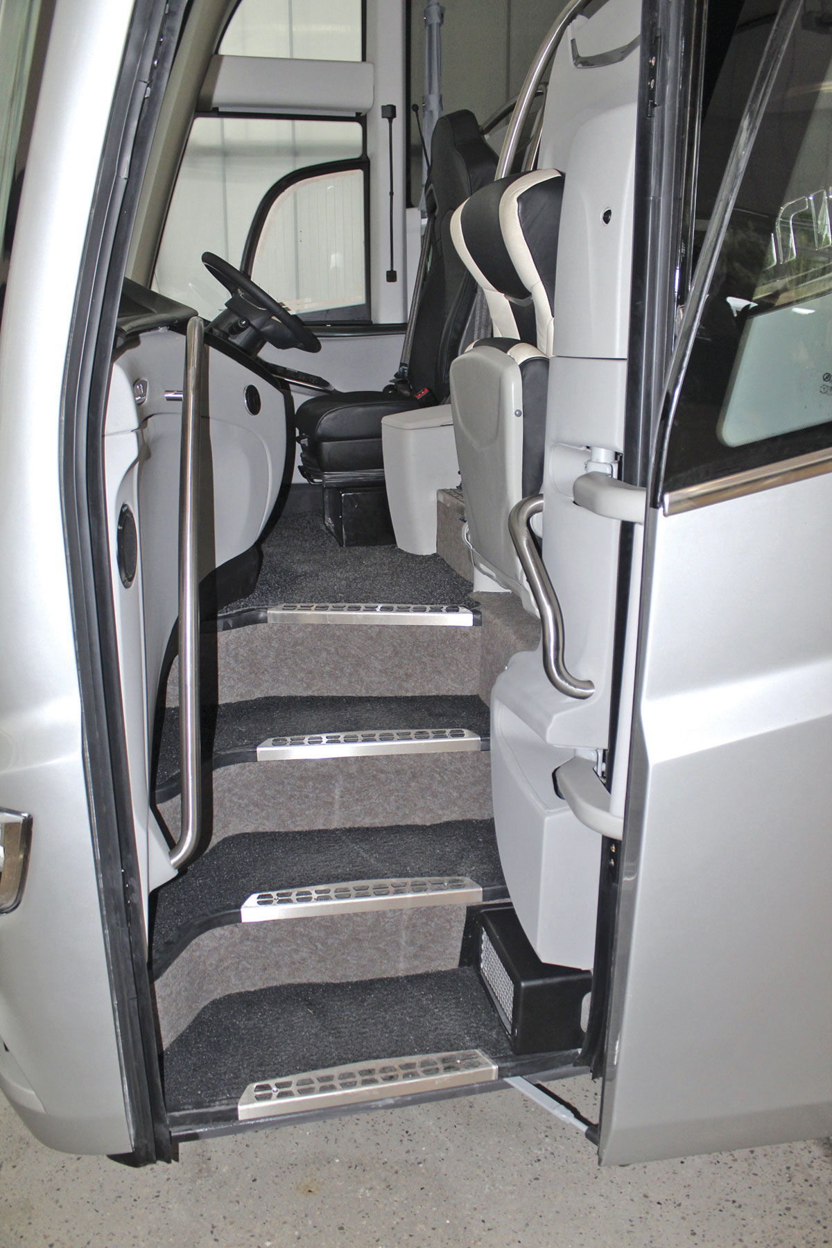 The entrance arrangement on the UK destined i8 demonstrator we were shown