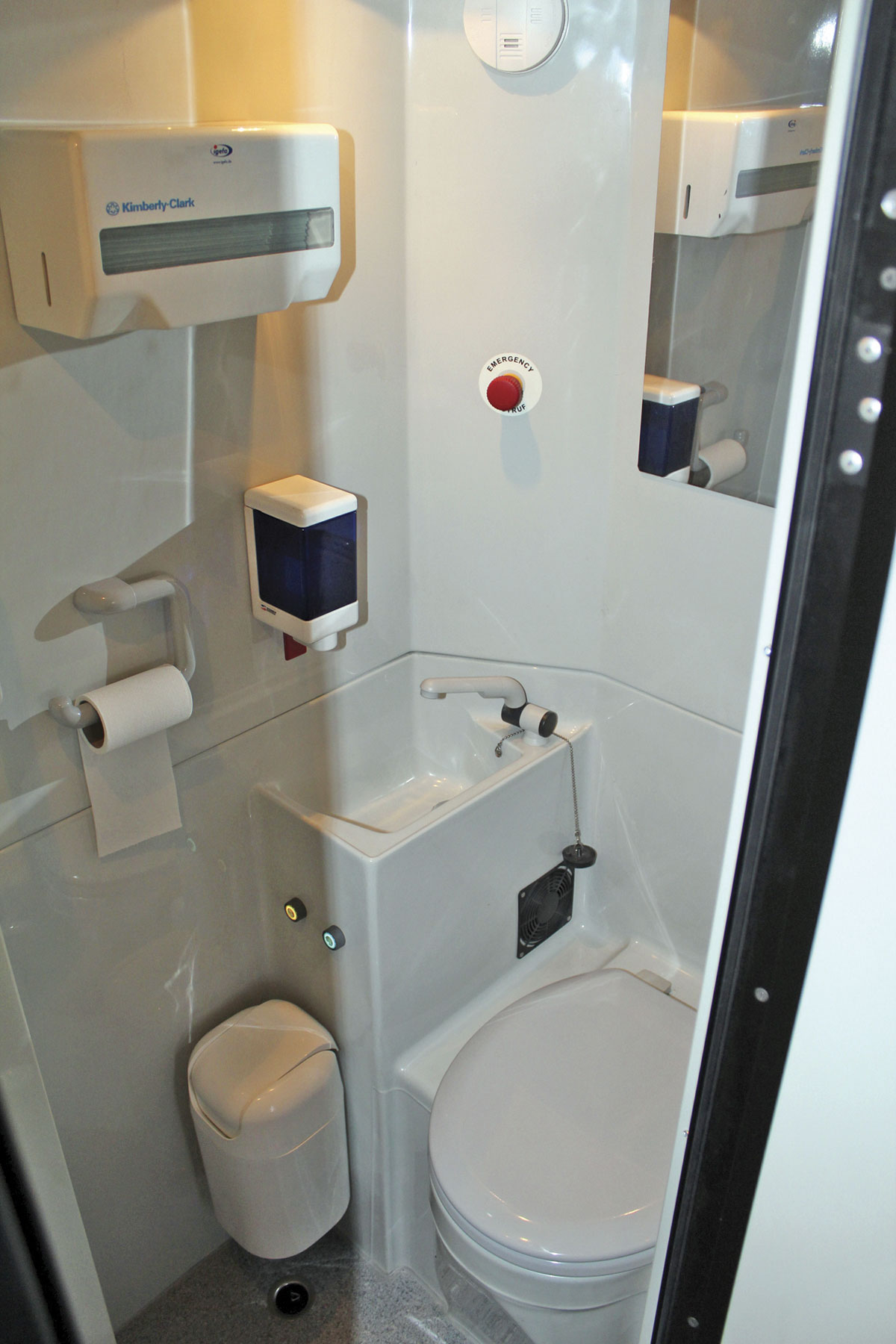 Changes have been made to the toilet compartment since it appeared in Birmingham and it is now an excellent unit.