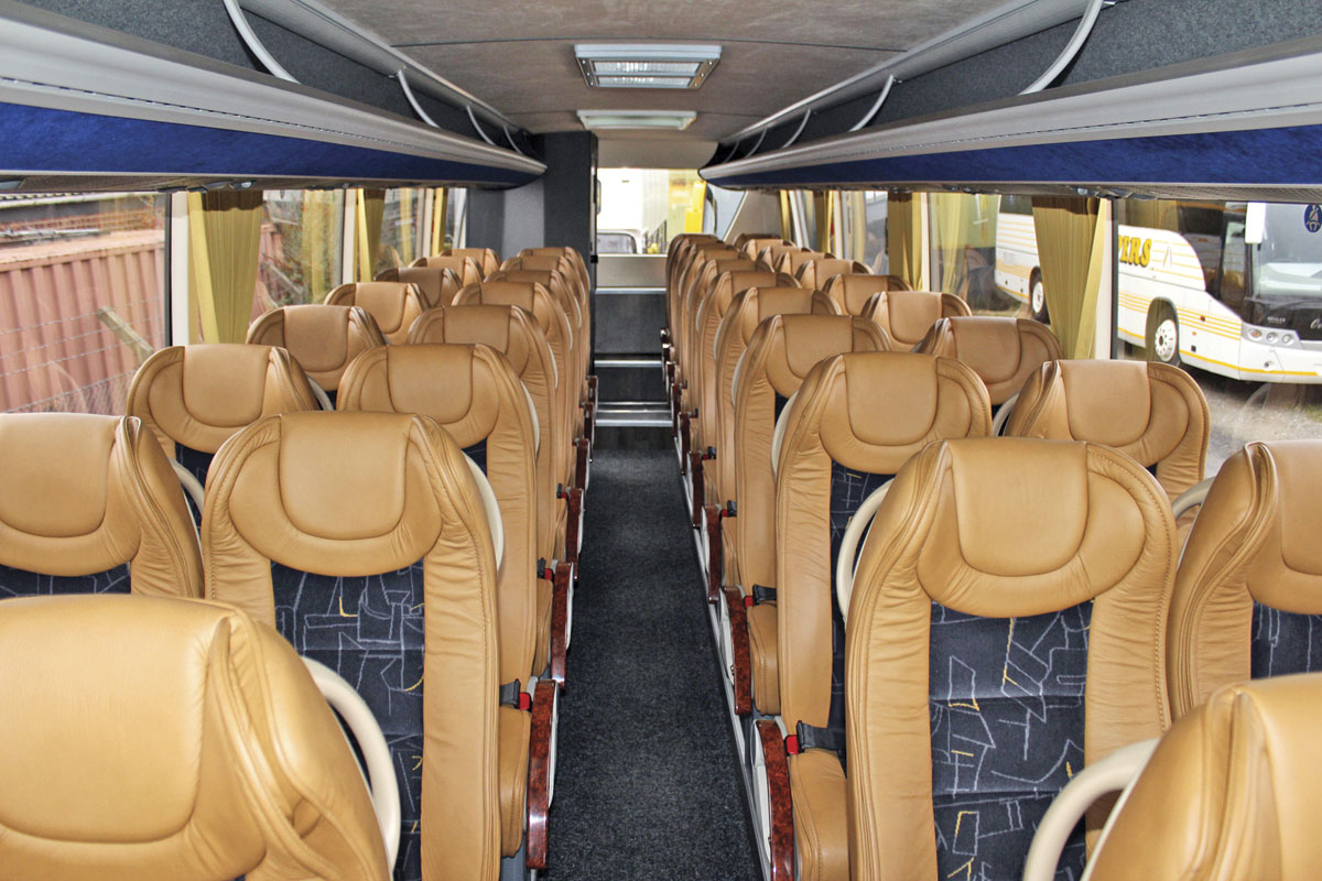Coopers specified 38 recliners and a rear offside saloon toilet.