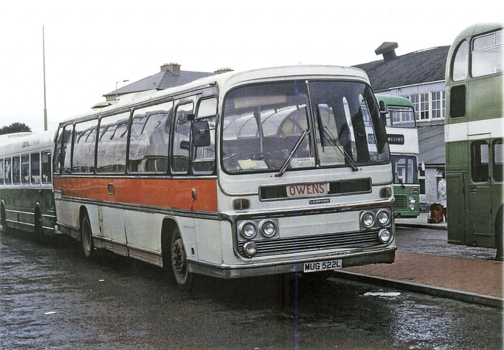 In earlier times, coaches like this Plaxton Panorama Elite bodied Leyland Leopard were regular performers on the company's services