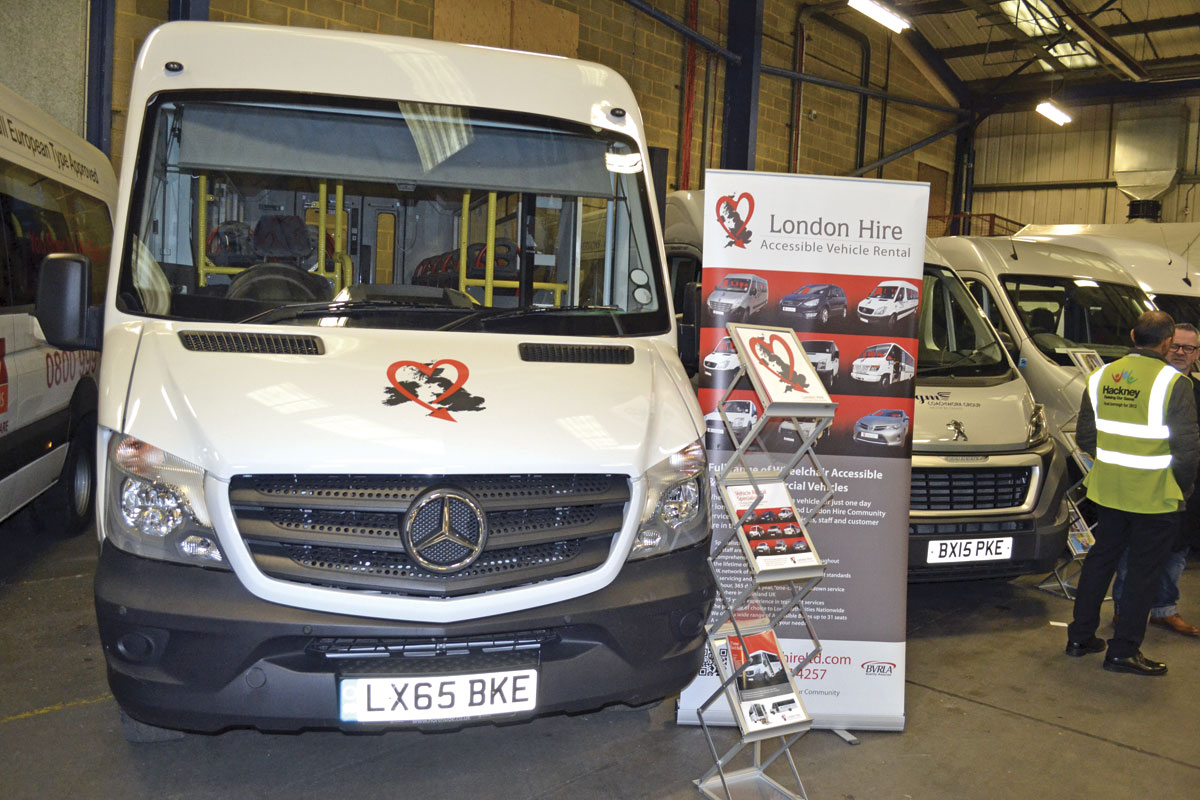 London Hire's Mercedes-Benz Sprinter Treka was one of two vehicles exhibited by them