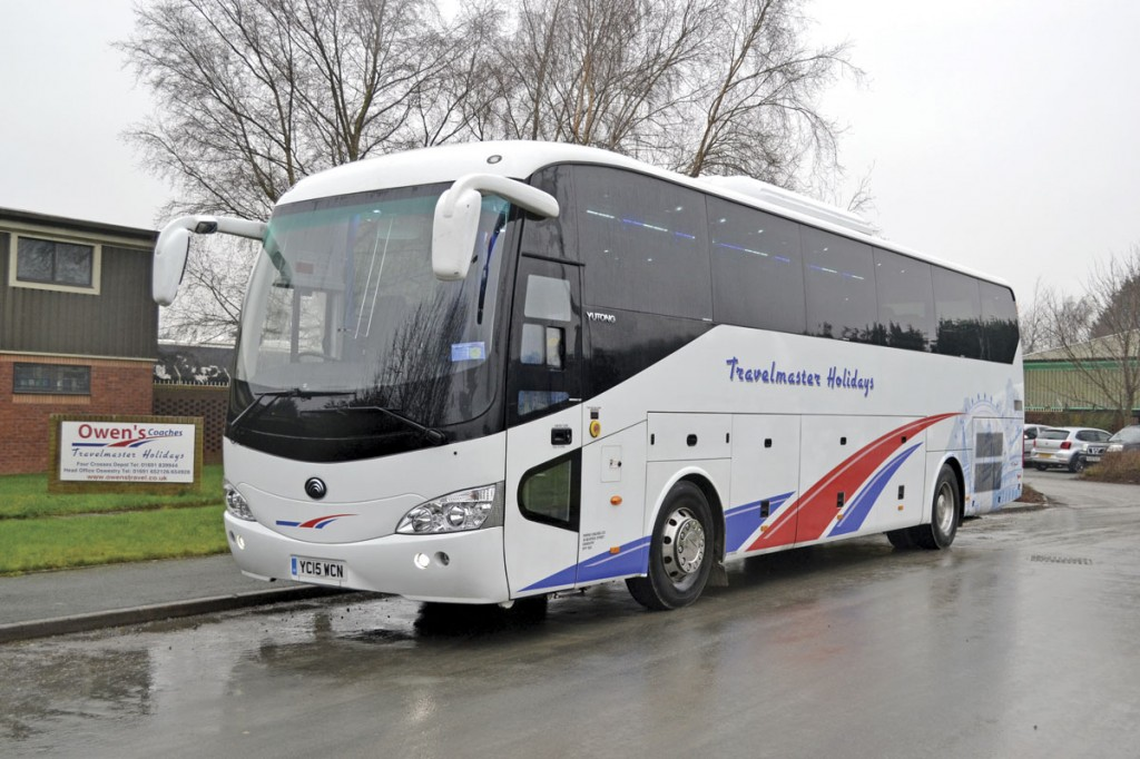 Owen's Travelmaster's most recent coaches; a 12m Yutong