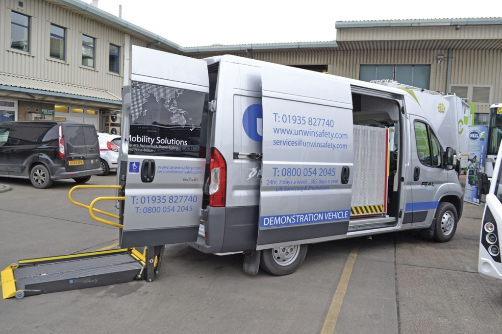 Unwin's new demonstration vehicle has showcases a number of their core products