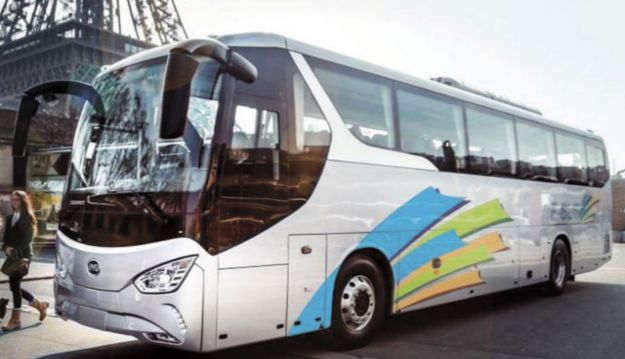 'World's first' electric coach unveiled