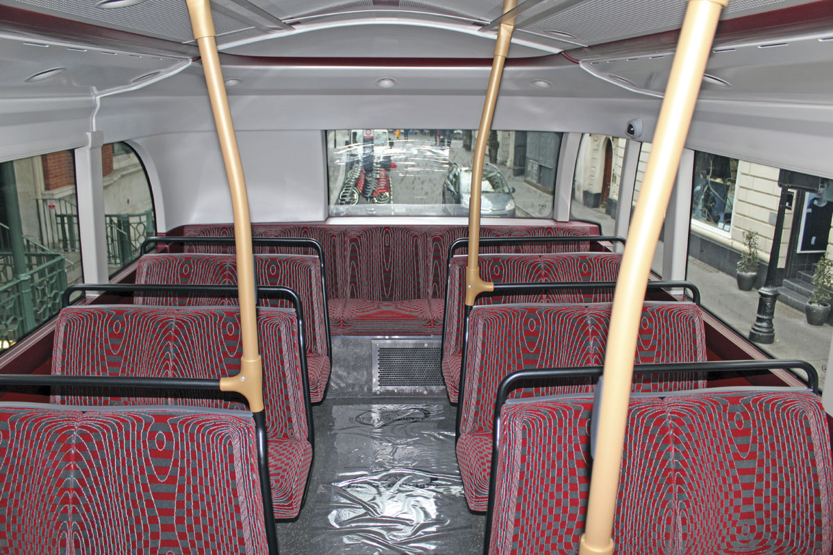 It is at the rear, where there is no second staircase, that the SRM's layout most differs from the New Routemaster