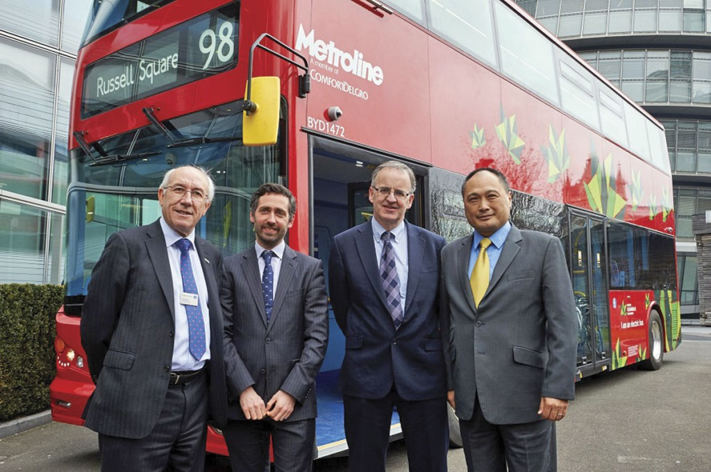(LtoR) Leon Daniels; Matthew Pencharz; Director of Bus at TfL, Mike Weston and Isbrand Ho