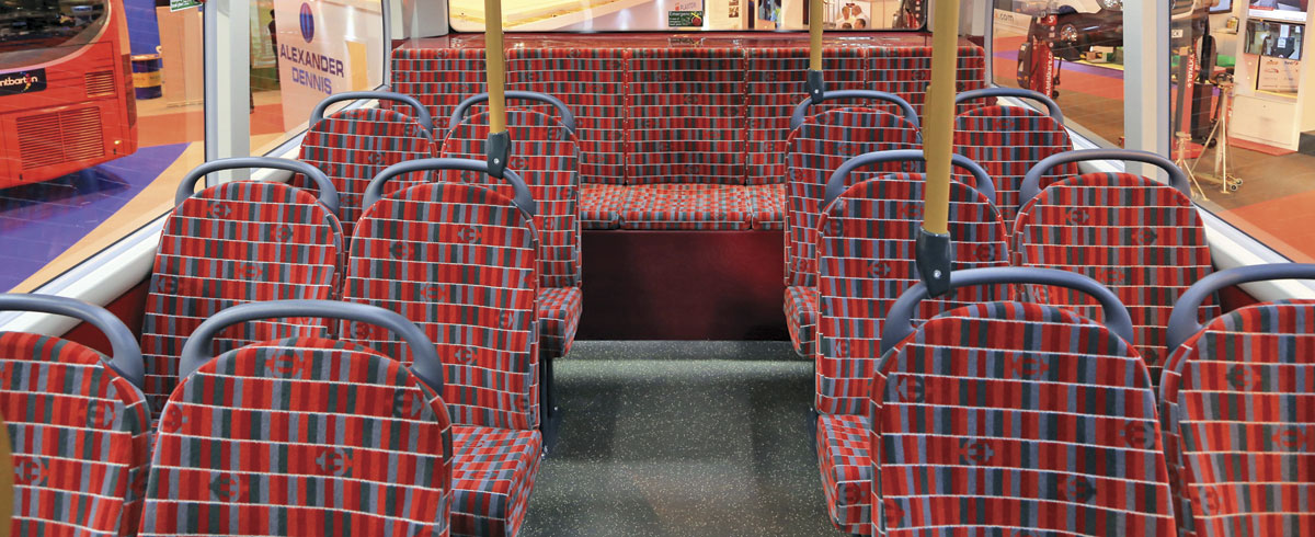Moquette developed by Camira with TfL for the ADL Enviro 400H City