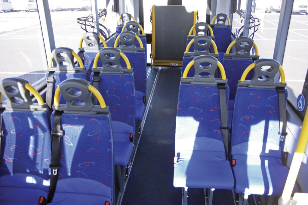 The interior showing the completely flat floor. The seating is Rescroft CT-Lite units on NMI quick release fixings