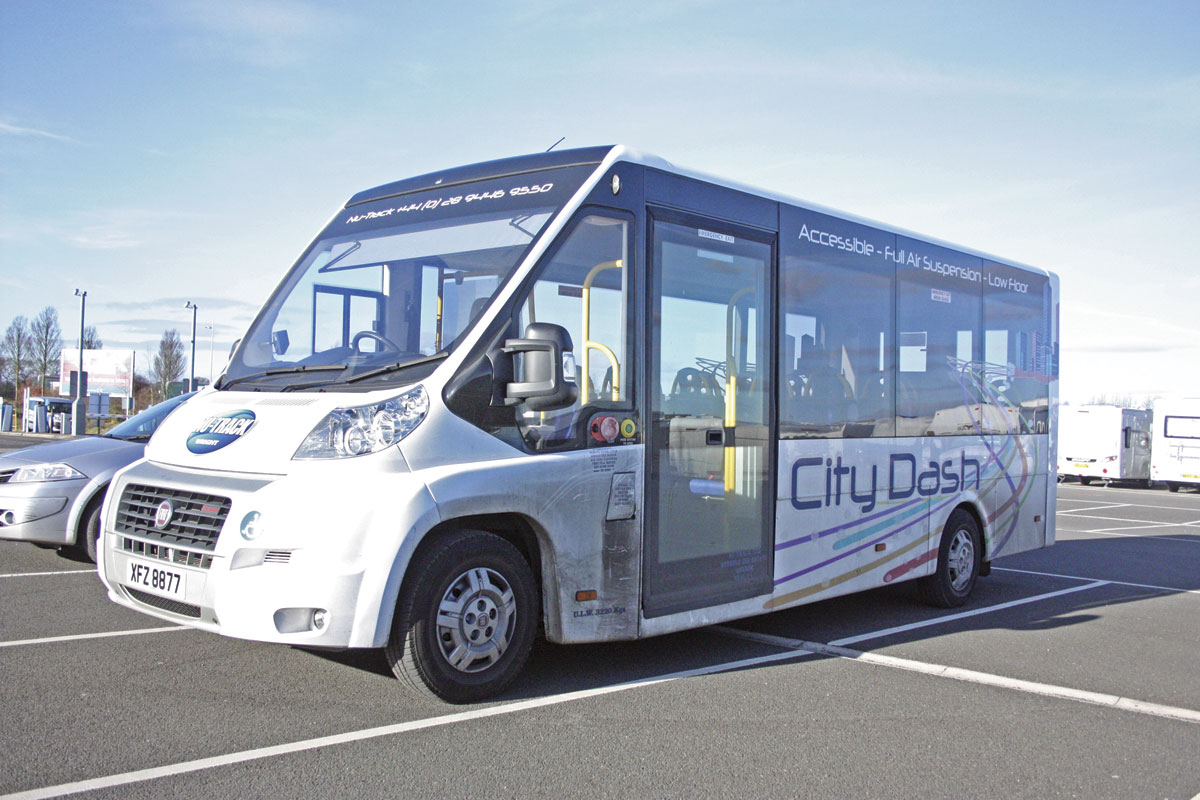 The new Nu-Track City Dash directly wheelchair accessible minibus