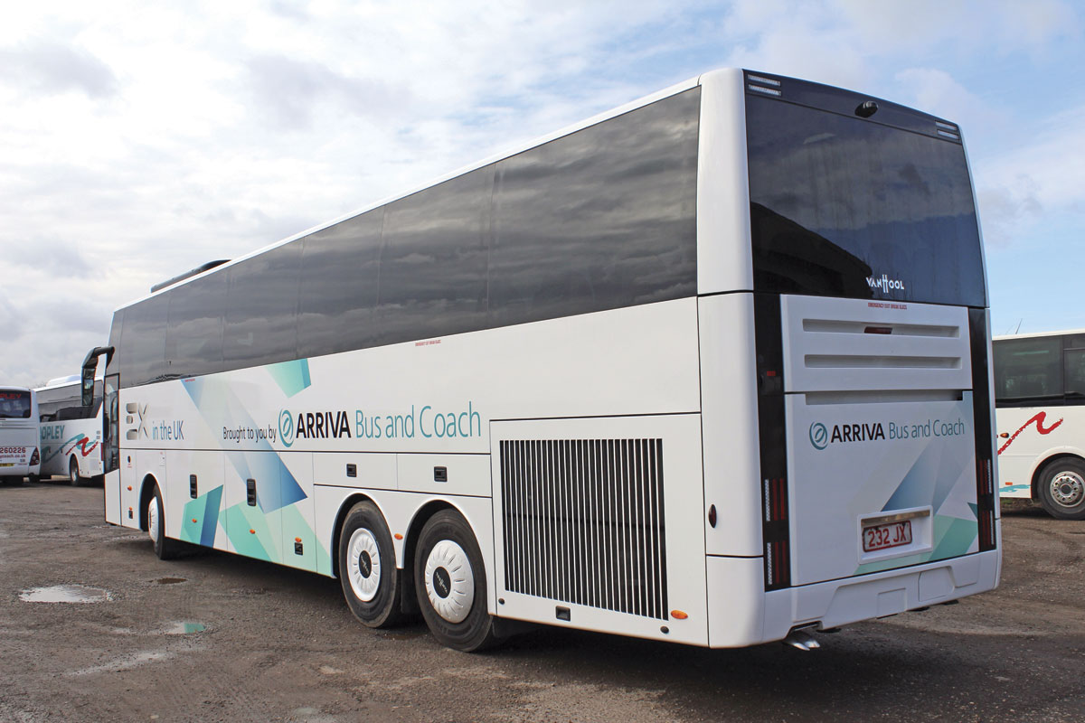 Van Hool styling has always favoured the angular and the EX maintains this tradition
