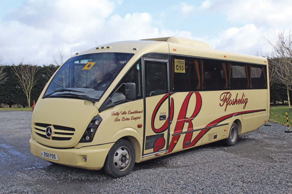 A 33-seat Plaxton Cheetah bodied Mercedes-Benz Vario acquired new in 2011