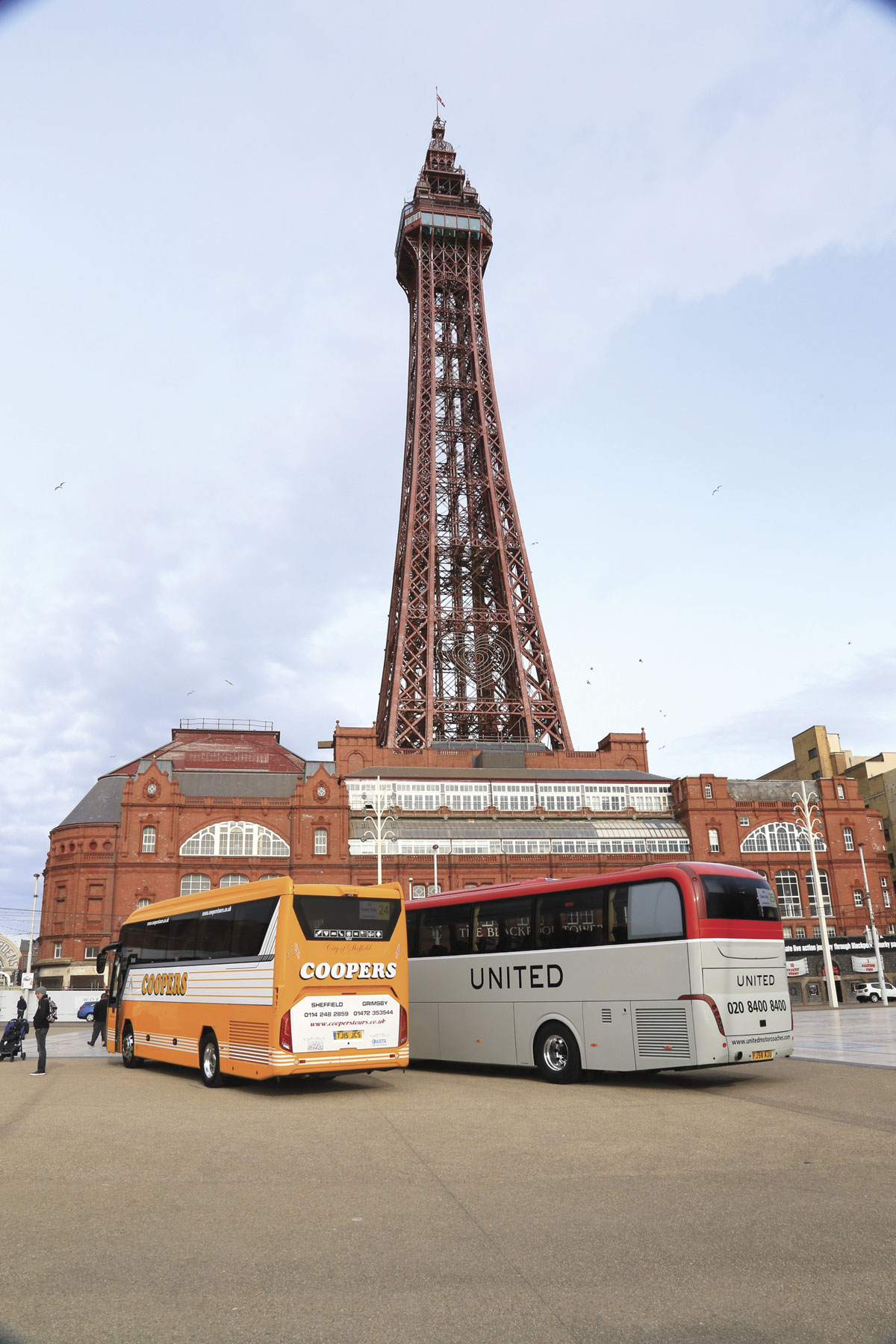 Blackpool's iconic Tower formed a focal point for the Rally