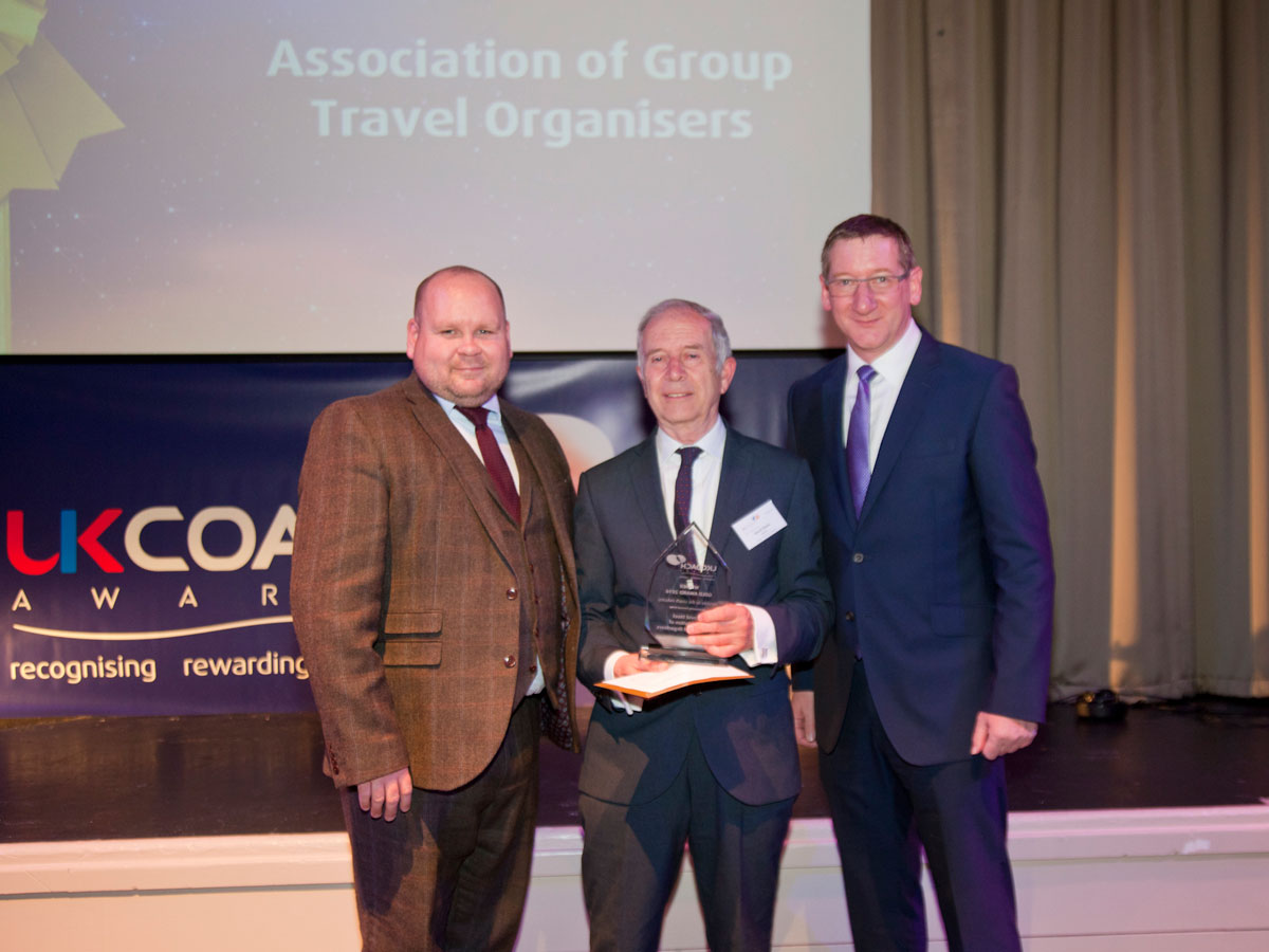 David Steele of AGTO was awarded the Services to the Coach Industry Award.