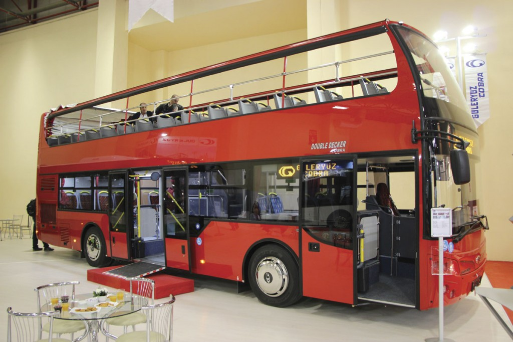 Destined for Bulgaria, this Guleryuz Cobra 11.0m integral open top decker is one of a growing number the company is selling in Europe