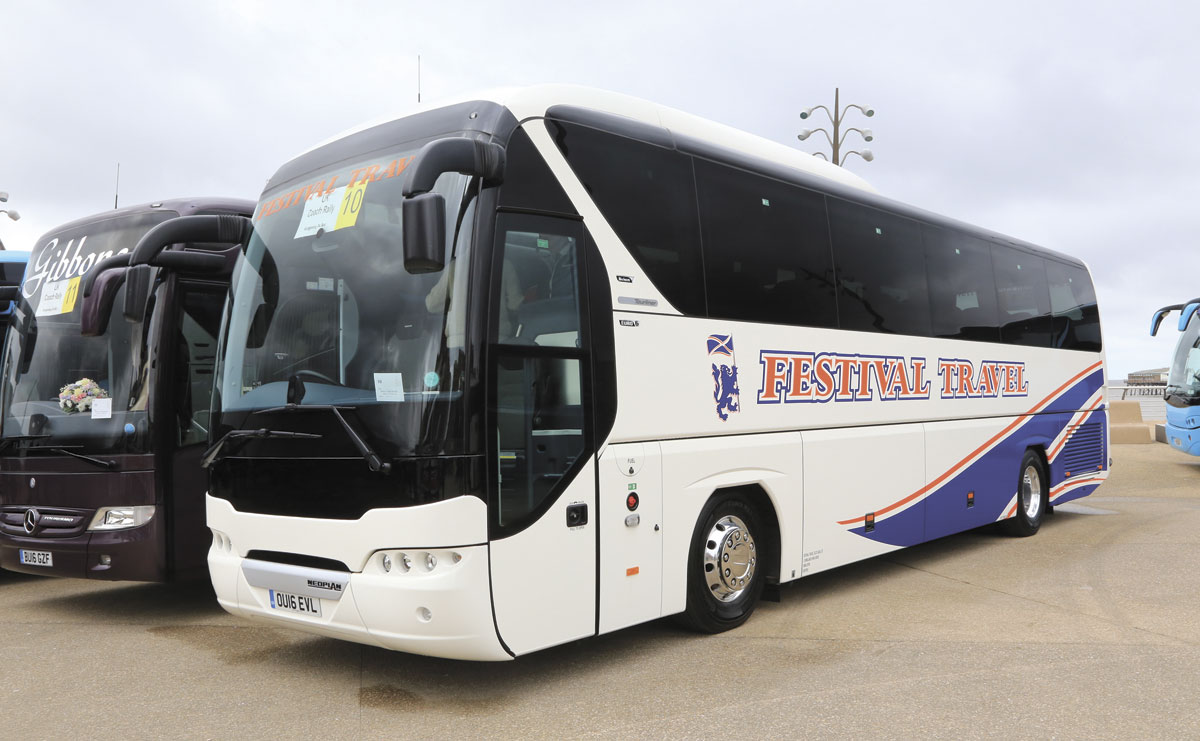 Festival Travel's Neoplan was the top coach from Scotland