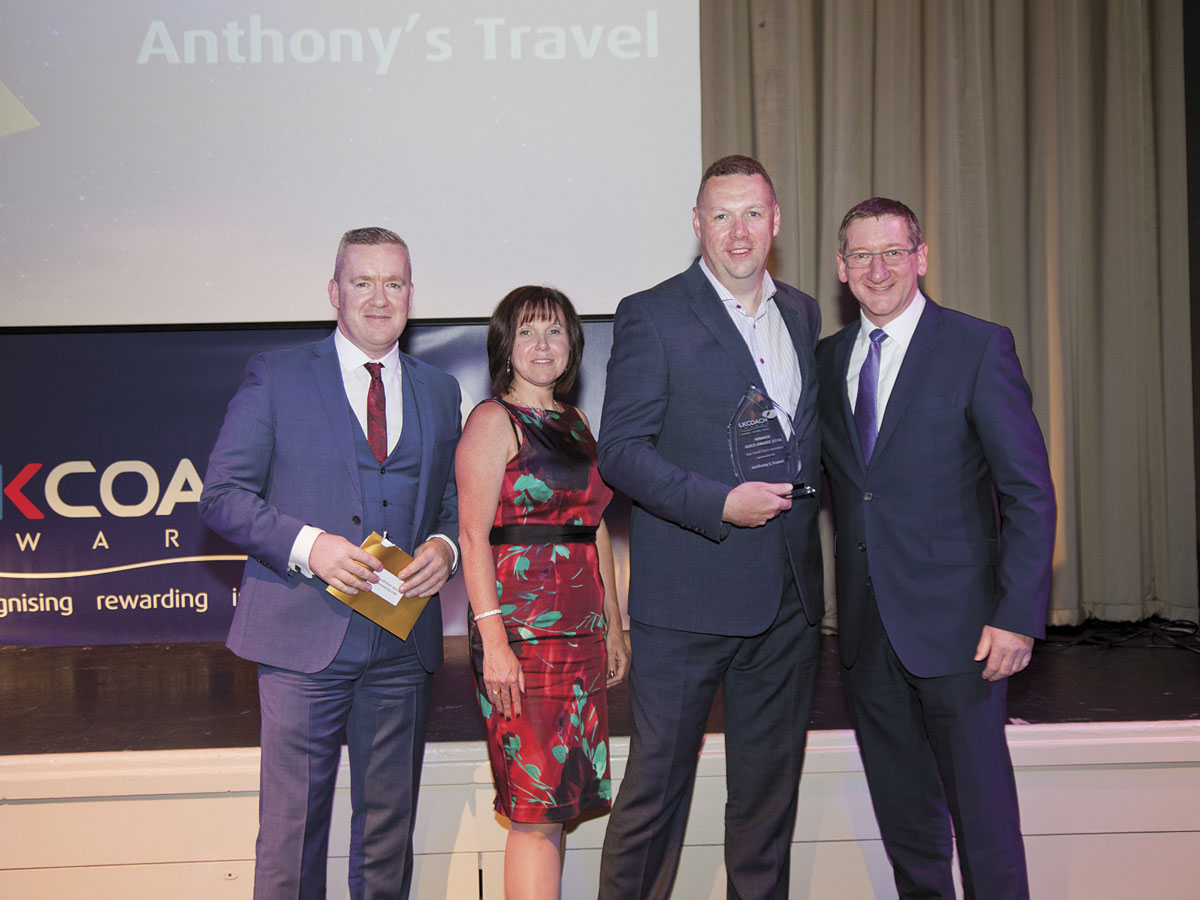 For the second consecutive year Anthony's Travel won Top Small Fleet Operator.