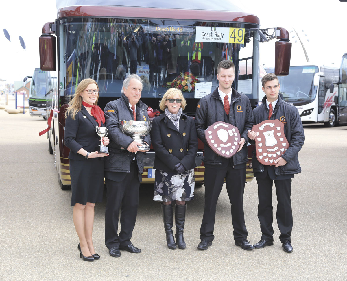 For the sixth year running, Parrys International Travel were recipients of the Coach of the Year accolade-presentation