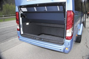 The Daily E6 Tourys features a 2.5 cubic metre luggage boot at the rear.
