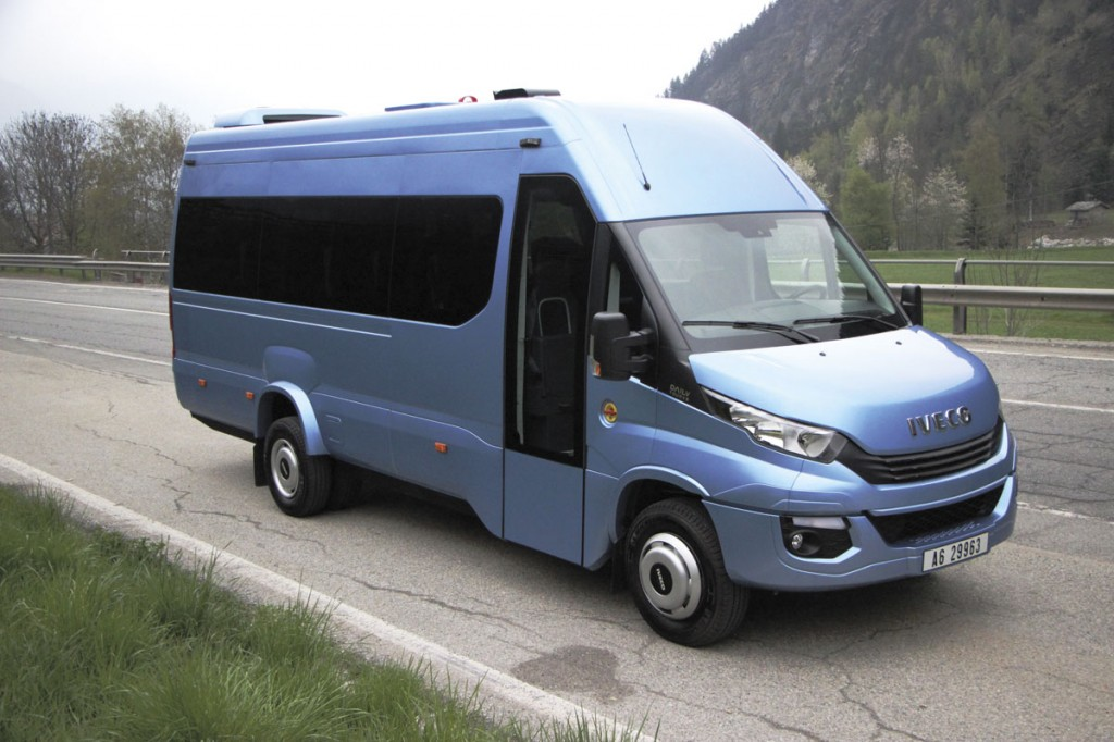 The Iveco Daily E6 Tourys 19-seat coach.