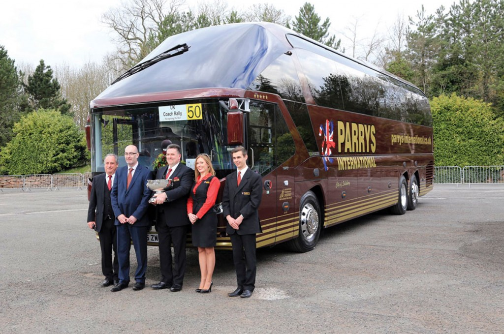In 2015, Coach of the Year, Parrys International's Neoplan Starliner 2