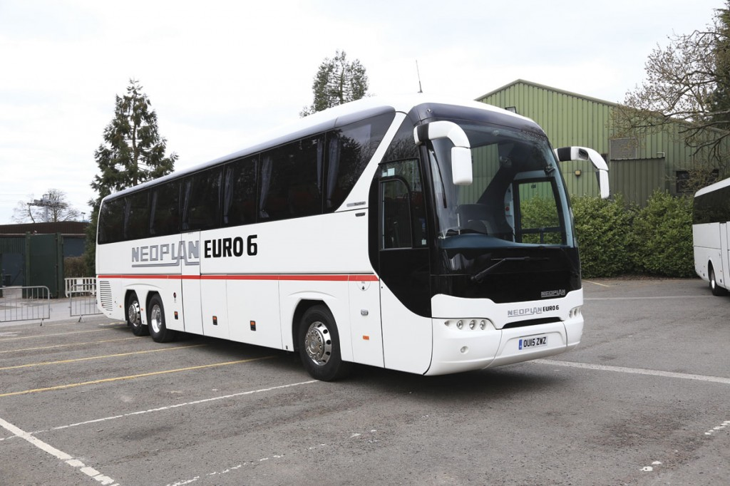 MAN Truck & Bus UK offer various models of the Neoplan Tourliner in the UK. A three-axle 13.25m P20 featured at the 2015 UK Coach Rally