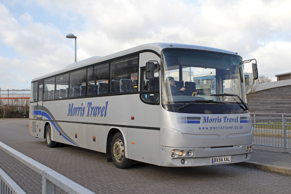 Morris Travel, based nearby, now operate this 67-seat Autosan Eagle which spent many years in the Ffoshelig fleet