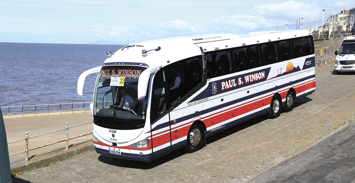 Paul S Winson Coaches received the Scania Trophy
