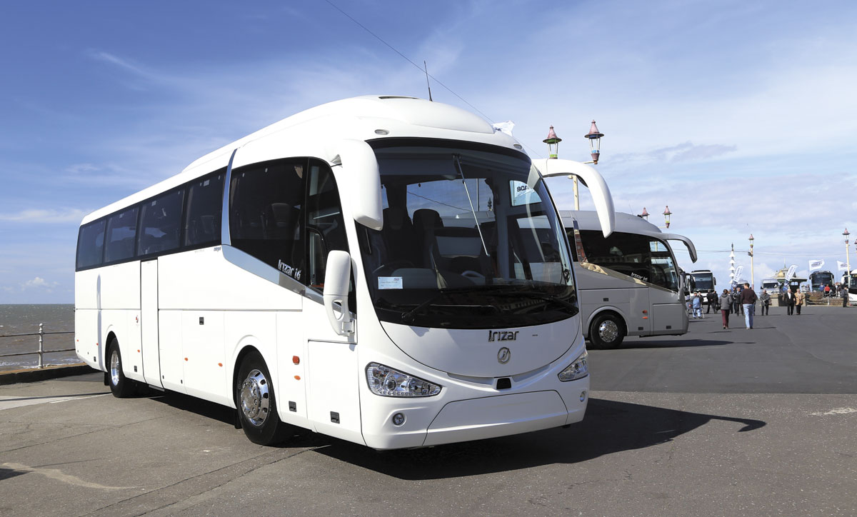 The Irizar display featured two i6 integral models