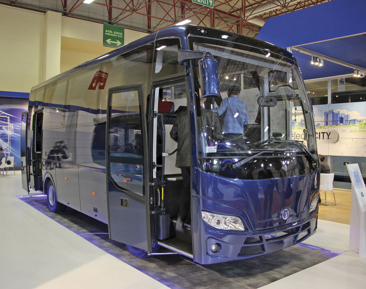 The new 7.7m Temsa Opalin coach