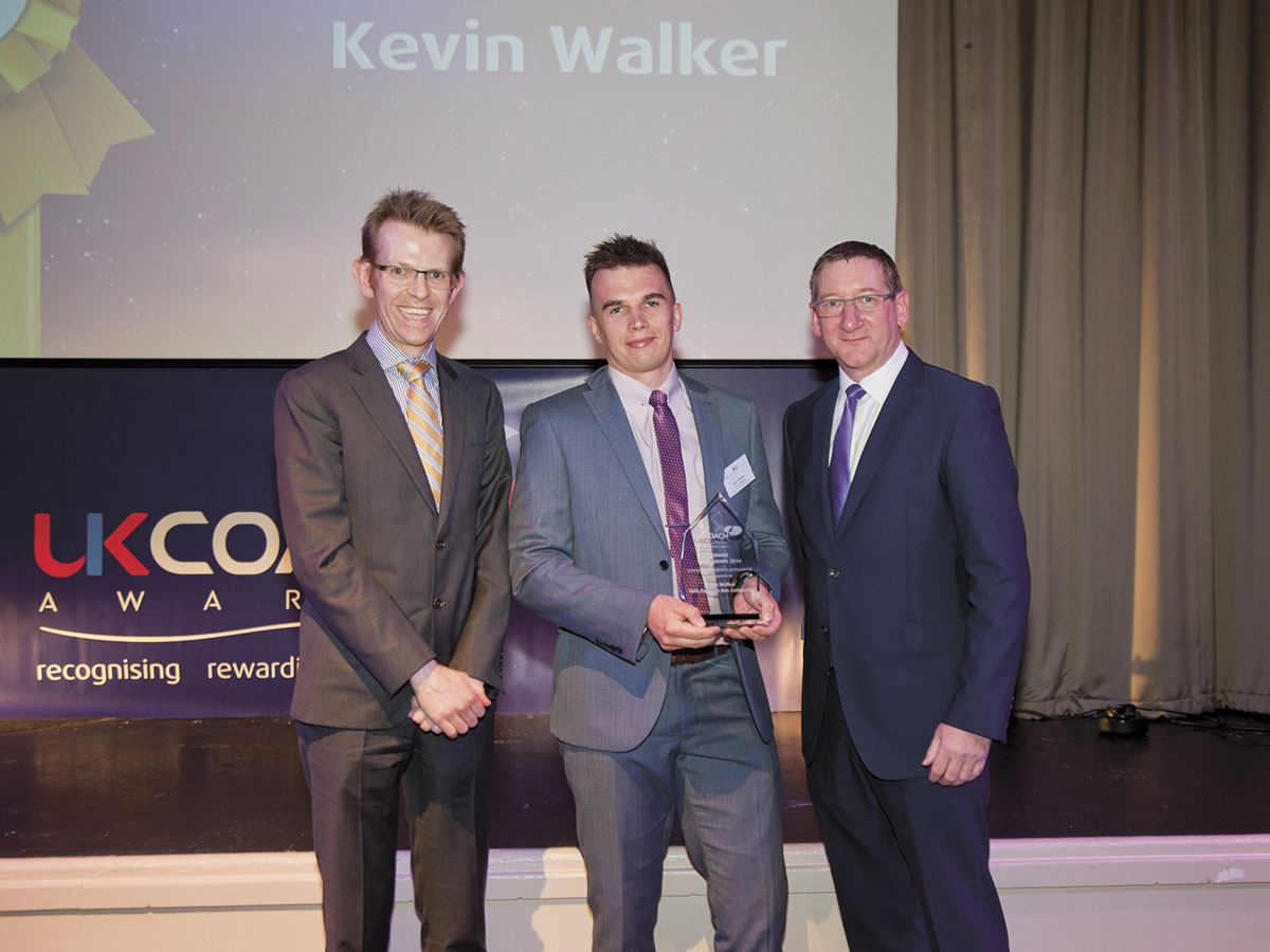 York Pullman's Kevin Walker struck gold in the Young Coach Industry Professional category.