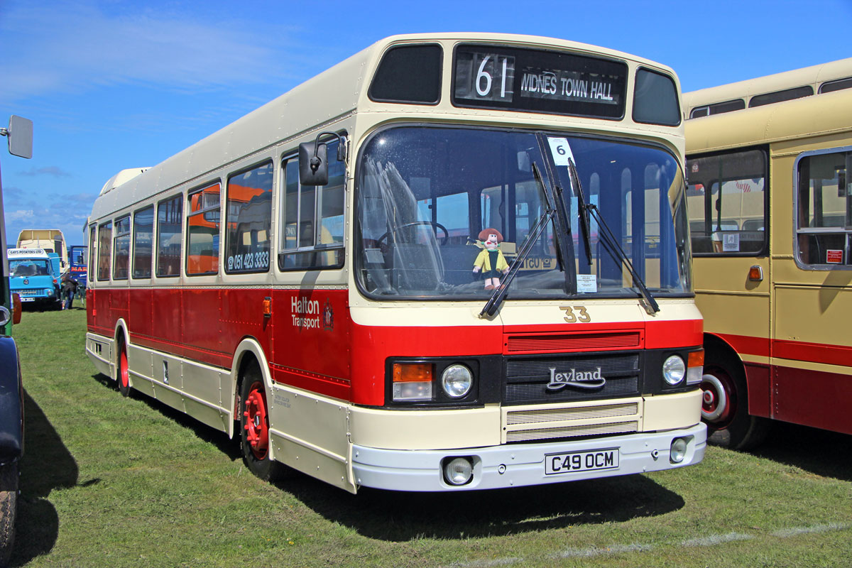 Halton Transport's one time number 33 is significant in that it was the very last Leyland National built, taking to the road in 1985.