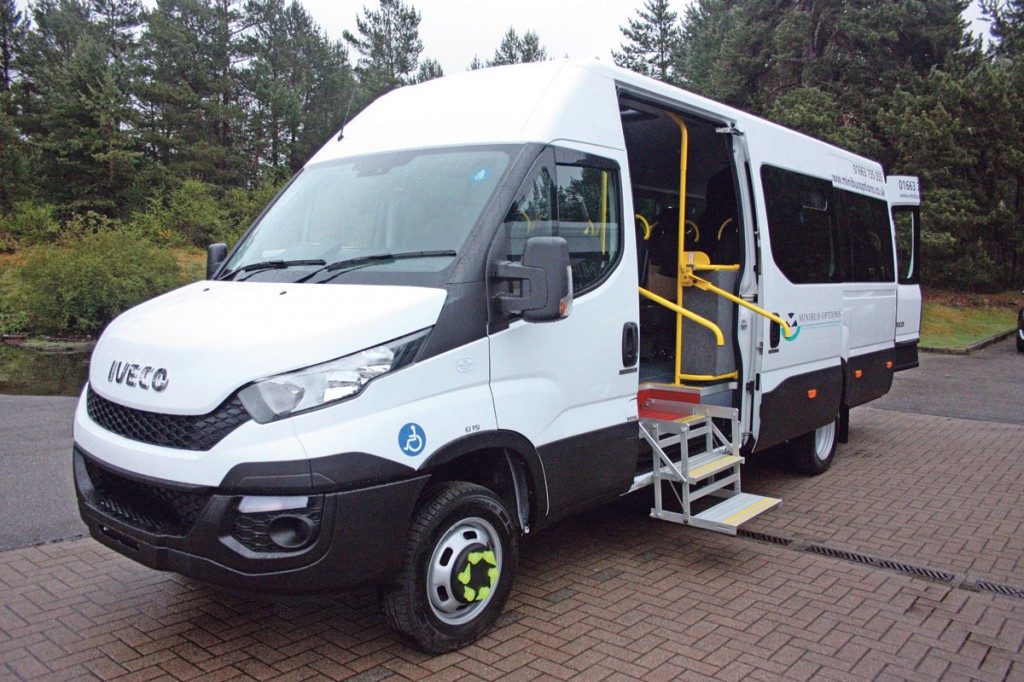Minibus Options first conversion of the Iveco New Daily destined for Culverdale CT.