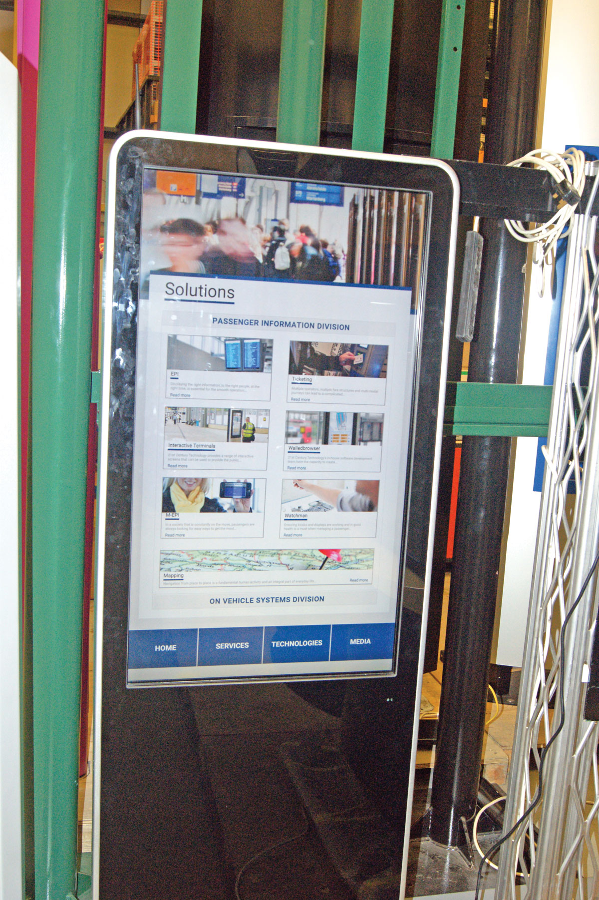 One of the interactive, touch screen display boards RSL produces.