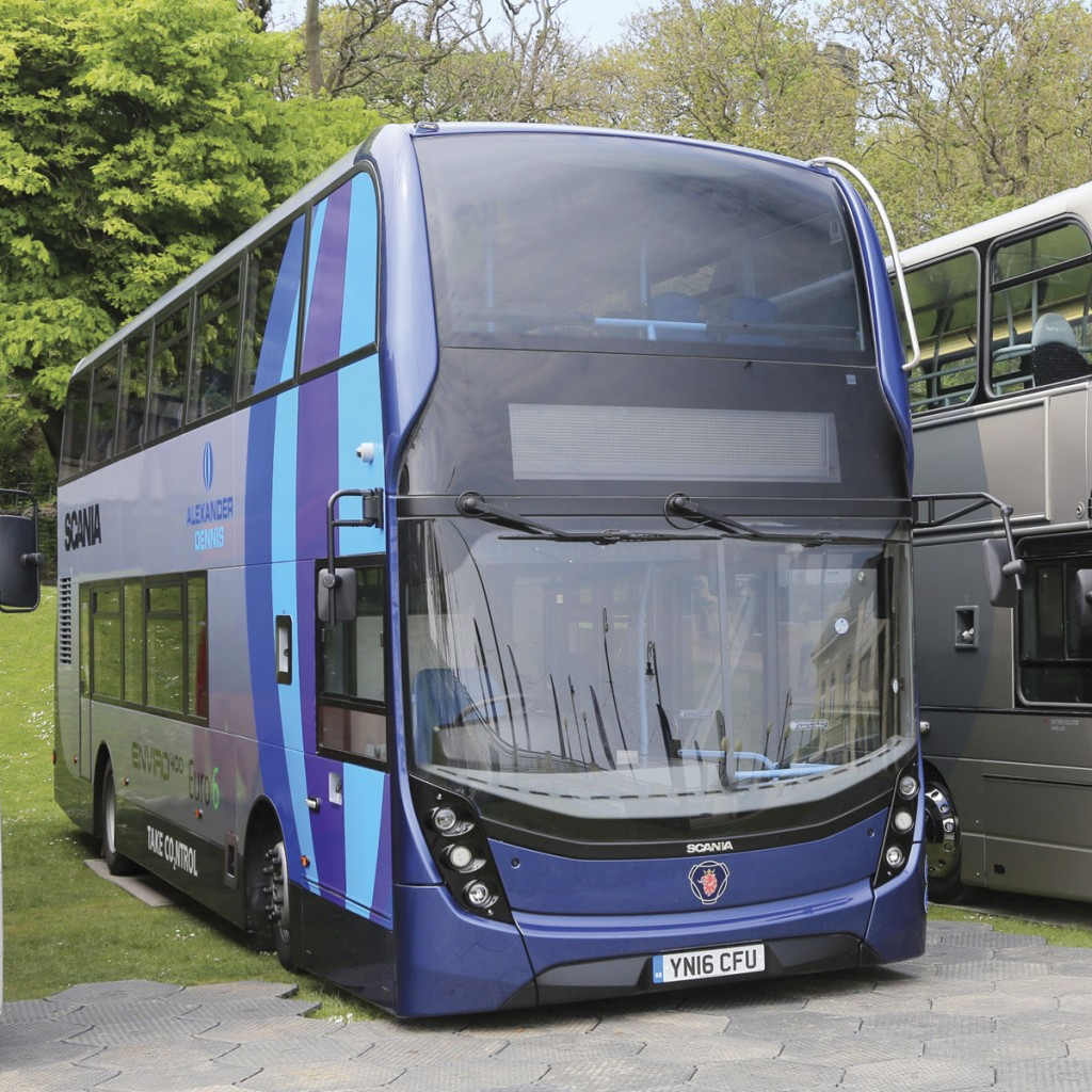 Scania's new Euro6 diesel double decker with ADL Enviro400 bodywork