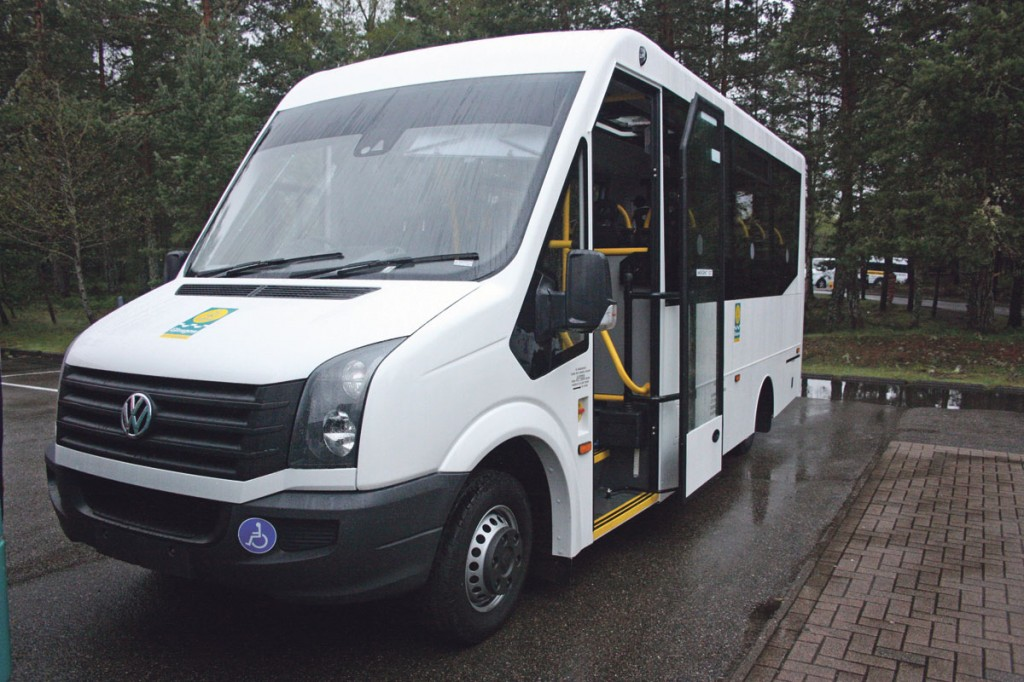 The 22 seat VW Crafter CR50 based Nu-Trak City Link, one of eleven being supplied to Glasgow City Council.