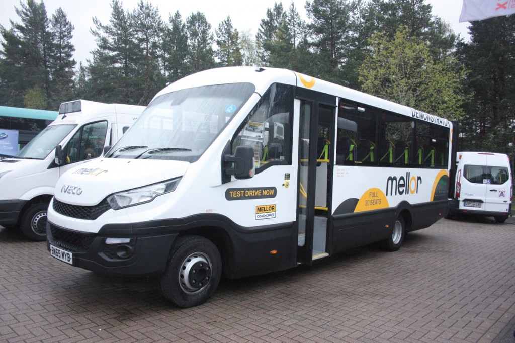 The Mellor Maxima on Iveco New Daily can seat up to 30.