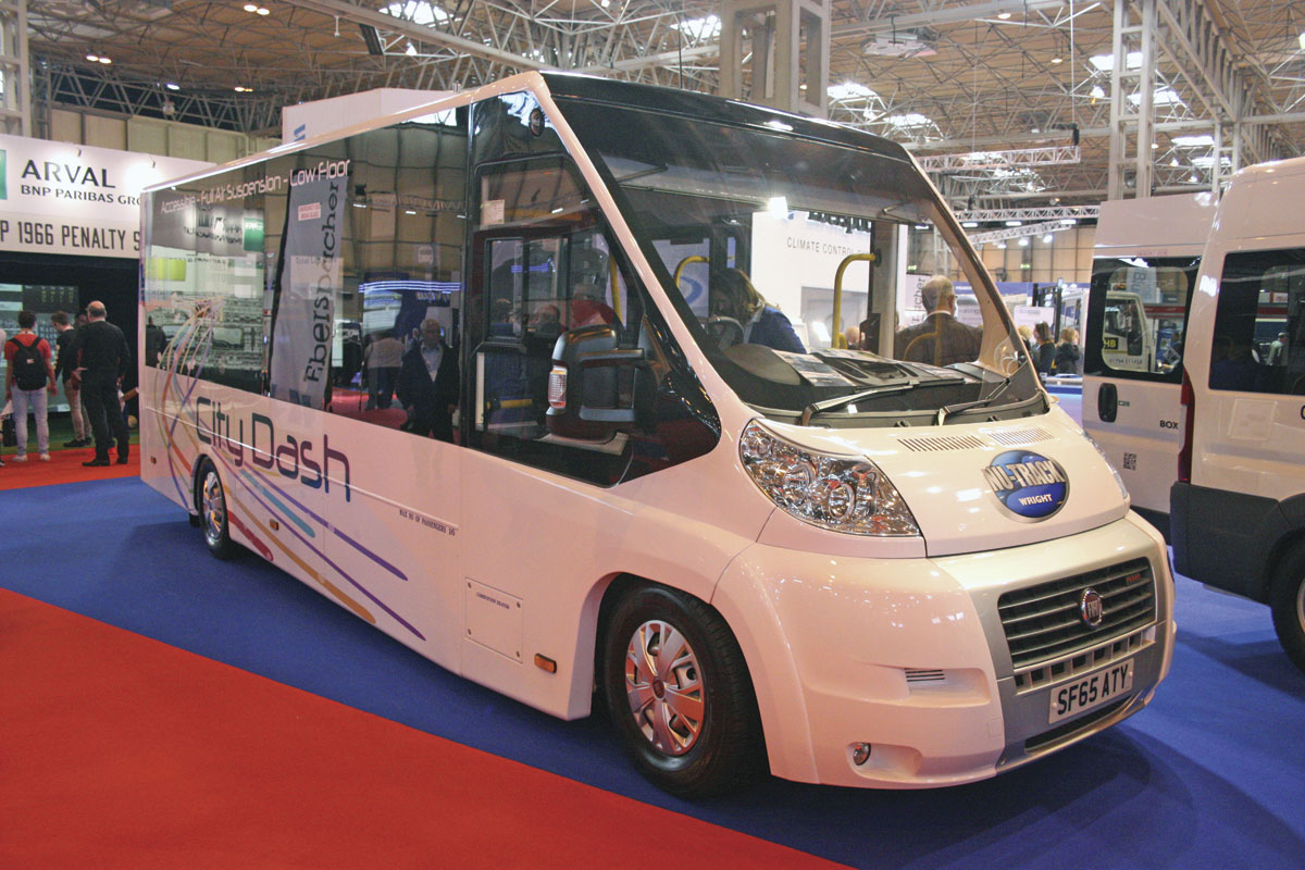 The Nu-Track City Dash directly wheelchair accessible minibus.
