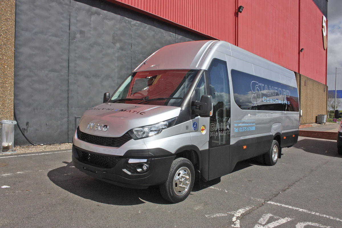 The new 22 seat Stanford Iveco New Daily accessible minibus.