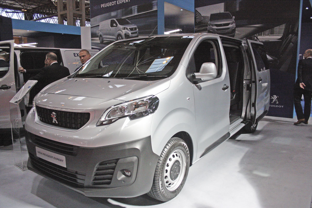 The new Peugeot Expert mid sized van.