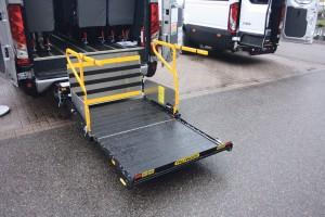 The new Ratcliff-Palfinger RUL 40 wheelchair lift.