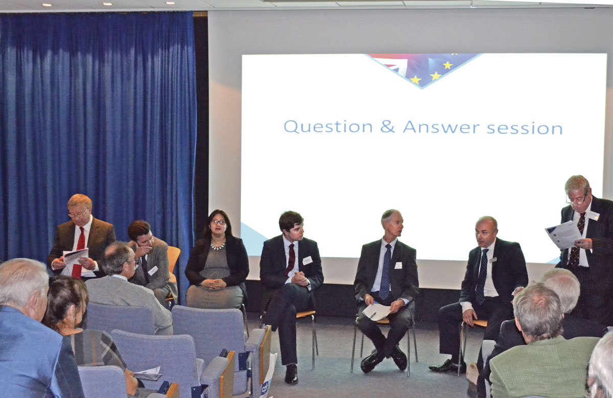 The panel of judges were quizzed during the Q&A session.