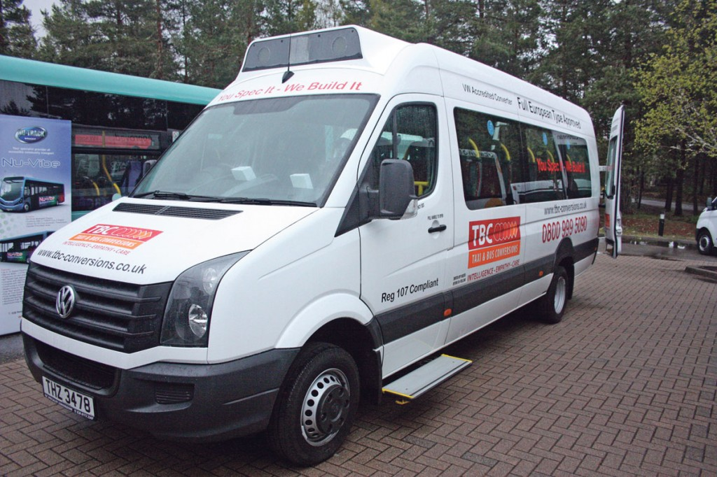 VW Crafter built by TBC to comply with Regulation 106.