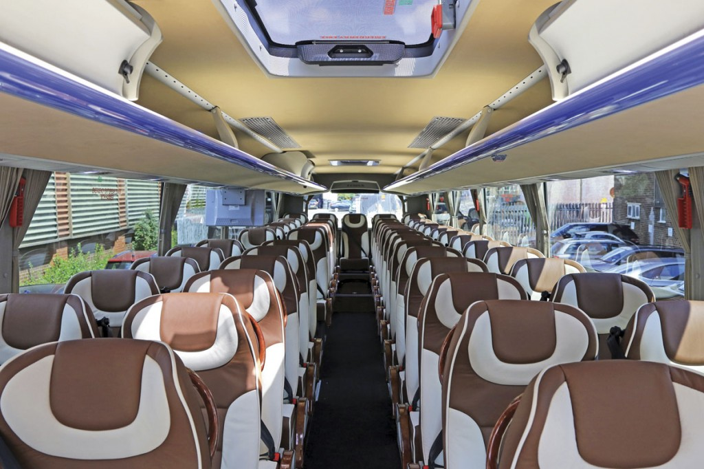 Working with Temsa and Arriva, BM Coaches have achieved a high quality and attractive interior for their Safari HDs